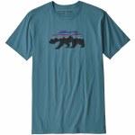 Patagonia Fitz Roy Bear Organic Short Sleeve T Shirt-Tasmanian Teal-S