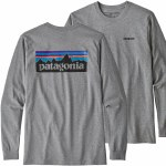 Patagonia P6 Logo Responsibili-Tee Long Sleeve-Gravel Heather-L