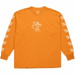 Polar Angry Stoner Long Sleeve T Shirt-Bright Orange-S