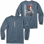 Primitive Mens Warning Long Sleeve T-Shirt-Indigo Blue-S