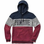 Primitive League Paneled Hood Pullover Hoody-Brick-M