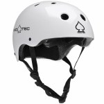 Pro-Tec Classic Skate Helmet-Gloss White-S