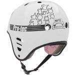 Pro-Tec Full Cut Certified Gonz Helmet-White-M