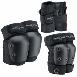 Pro-Tec Junior 3 Pack Pads-Black-L