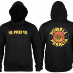 Powell Peralta Supreme Pullover Hoody-Black-M