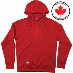 RDS Mens Chung Twill Hoodie-Red/Red-XL