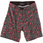 RDS Stacked Boardshorts-Black/Red/White-36