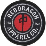 RDS Red Emblem Patch-Black/White/Red-OS