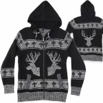 RDS Elk Zip Sweater-Black/Heather Grey-S