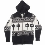 RDS Tendi Zip Hoody-Black/Grey/Cream-S