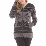 RDS Egyptian Zip Hoody Womens-Grey/Black-M