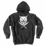 RDS Mens Wolf knives Hoodie-Black-XL