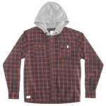 RDS Mens Alpha Hoodie-Red Plaid/Heather Grey-L