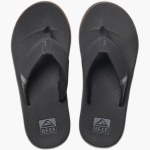 Reef Mens Fanning Low Sandal-Black-9.0