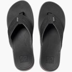 Reef Mens Ortho Bounce Coast Sandal-Black-8.0