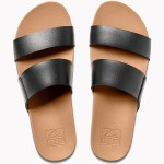 Reef Womens Cusion Bounce Vista Sandal-Black/Natural-7.0