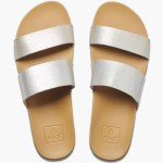 Reef Womens Cusion Bounce Vista Sandal-Silver-7.0