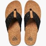 Reef Womens Cushion Strand Sandal-Black/Natural-6