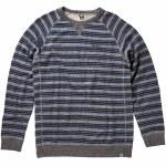 Reef Row Stripe Crew Sweater-Black/Heather-M