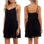 Rhythm Daydreamer Dress Womens-Black-XS