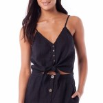 Rhythm Amalfi Top-Black-XS