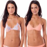 Rhythm Kailua Reversible Trilette Bikini Top-Guava-S