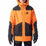 Rip Curl Mens Pow Jacket-Orange-L