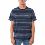 Rip Curl Mens Searchers Jacquard Short Sleeve T-Shirt-Indigo-S