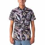 Rip Curl Mens Glitch Short Sleeve T-Shirt-Black-S