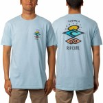 Rip Curl Mens Search Roots Pre Short Sleeve T-Shirt-Blue-S