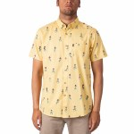 Rip Curl Mens Vacation Short Sleeve Button-Up-Yellow-S