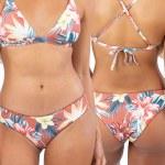 Rip Curl Womens Anini Beach Cheeky Hip Bikini-Clay-S