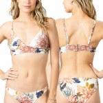 Rip Curl Womens Sunsetter Floral Tri Bikini-Natural-S