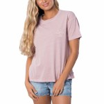 Rip Curl Womens The Searchers Short Sleeve T-Shirt-Dusty Pink-S