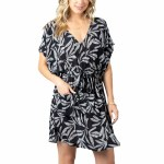 Rip Curl Womens Ohh La Leaf Dress-Black-S