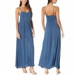 Rip Curl Womens Sunsetters Solid Maxi Dress-Dark Blue-S