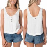Rip Curl Womens sunrise Cami Tank Top-Bone-XS