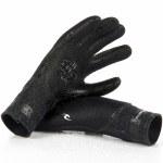 Rip Curl Mens Flash bomb 3/2 5 Finger Glove-Black-S