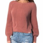 Rip Curl Womens Coco Crew Sweater-Canyon Rose-S
