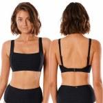 Rip Curl Womens Premium Surf DD Crop Bikini-Black-S