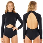 Rip Curl Womens Premium Surf Good L/S Swi Bikini-Black-L