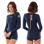 Rip Curl Womens GBomb L/S Boyleg Spring Surfsuit-Slate-4