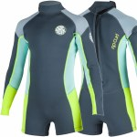 Rip Curl Dawn Patrol Long Sleeve Spring Suit Girls-Charcoal-6