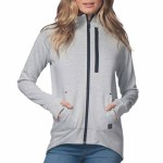 Rip Curl Anti Series Flux Z/T Fleece Hood Womens-Light Grey Heather-L
