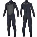Rip Curl Dawn Patrol 4/3 Back Zip Wetsuit Kids-Black-14