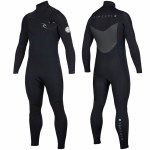 Rip Curl Dawn Patrol Chest Zip 4/3 Wetsuit-Black-LS