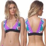 Rip Curl Hot Shot Halter Bikini Top Womens-Purple-S