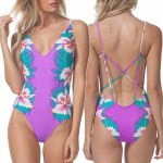 Rip Curl Hot Shot One Piece Womens-Purple-S