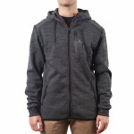 Rip Curl Departed Anti Series Hooded Zip Fleece-Charcoal-S