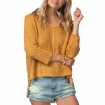 Rip Curl Morningside Pullover-Mustard-M